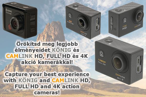 Akció kamerák - HD, FullHD és 4K