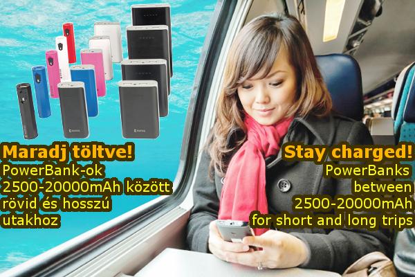 Power Bank-ok 2500-20000mAh kapacitással!