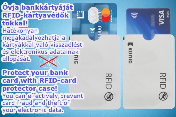 RFID bank kártya védő tok